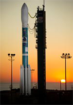 The Delta II rocket carrying NASA's NPP spacecraft