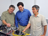 Goddard laser experts (from left to right) Barry Coyle, Paul Stysley, and Demetrios Poulios