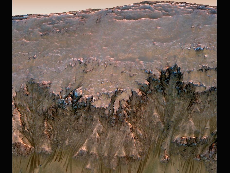 Mars' Newton Crater