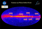 Before the launch of Fermi in 2008, astronomers knew of only seven gamma-ray pulsars.