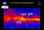 In the region of the sky that includes the constellation Cygnus, only one gamma-ray pulsar (J1952+3252) was known. Fermi now reveals a passel of pulsars in the area.