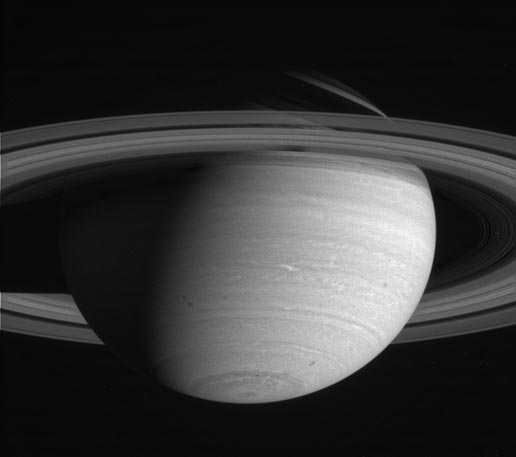 image was taken with the Cassini narrow angle camera in the near infrared on May 10, 2004