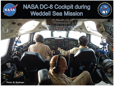 Flight crews based at NASA's Dryden Flight Research Center, Palmdale, Cal., oversee the DC-8's flights.