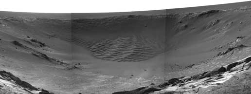 Opportunity image of Endurance Crater