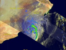 This radar image of Tropical Storm Keila's rainfall was captured by the TRMM satellite on Nov. 3, 2011 at 0254 UTC.