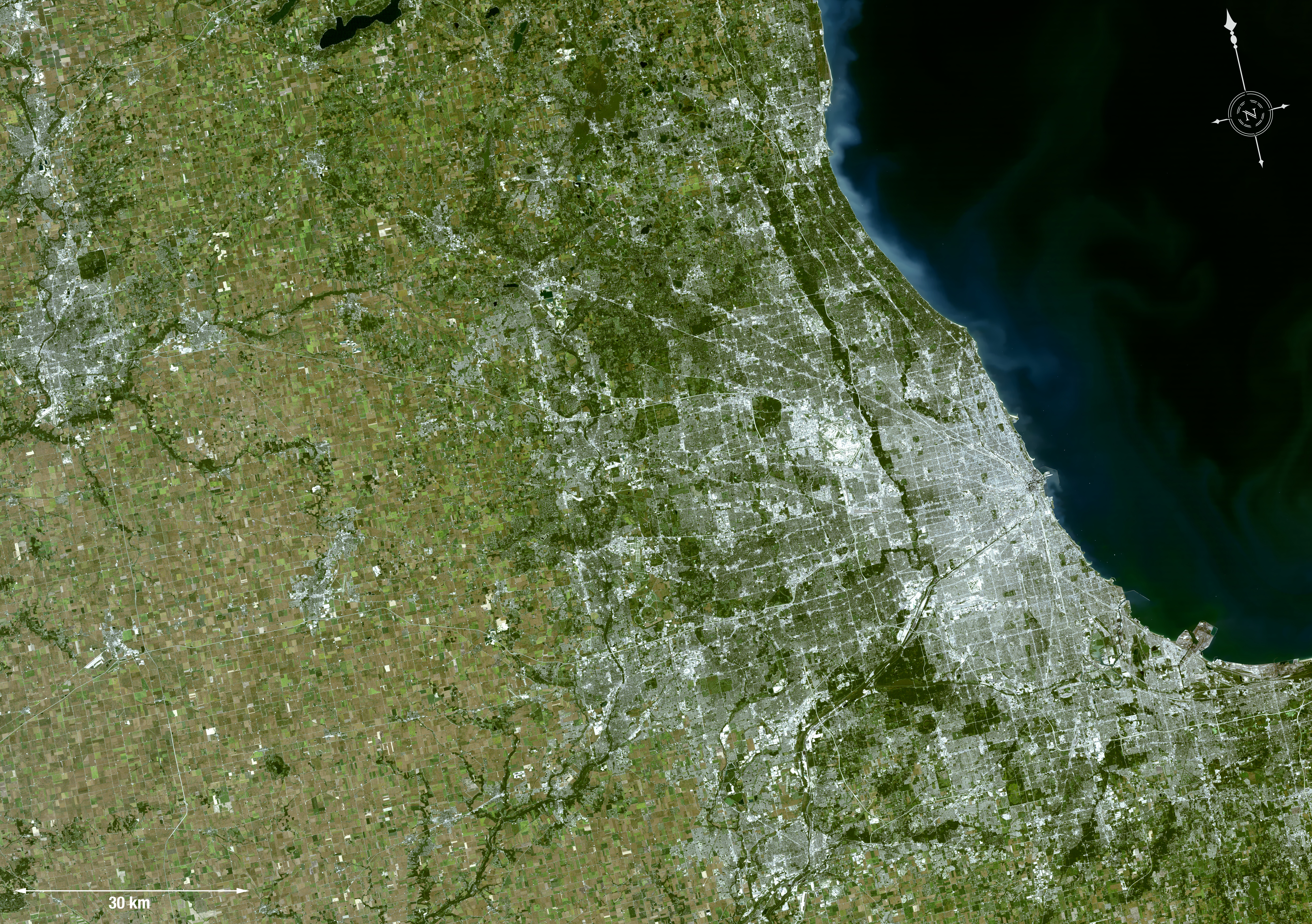NASA Know Your Earth  Chicago Wilderness - Chicago map download