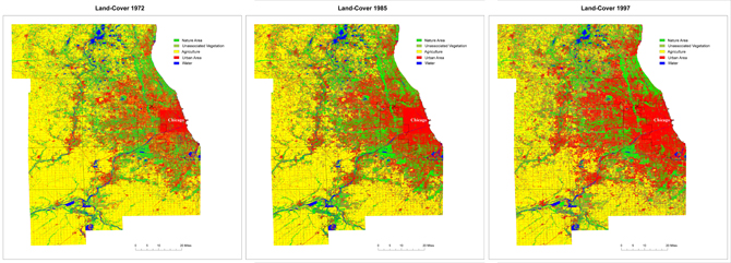 maps of Chicago land cover