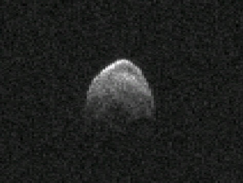 Asteroid 2005 YU55 radar image from Nov. 6, 2011