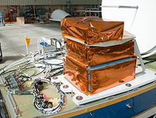 Cloud Physics Lidar electronics are installed in the upper area of NASA's Global Hawk unmanned aircraft.