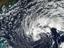 This visible image of Tropical Storm Sean was captured by MODIS on Nov. 7th when Sean was off the Bahamas.