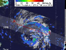 Tropical Storm Sean's rainfall was captured by the TRMM satellite on Nov. 9, 2011 at 2:37 a.m. EDT.