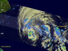 This radar image of Tropical Storm Sean's rainfall was captured by TRMM on Nov. 10, 2011 at 12:30 a.m. EST.