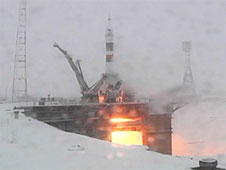 Expedition 29 launches aboard the Soyuz TMA-22