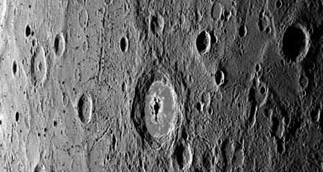Craters on Mercury's surface