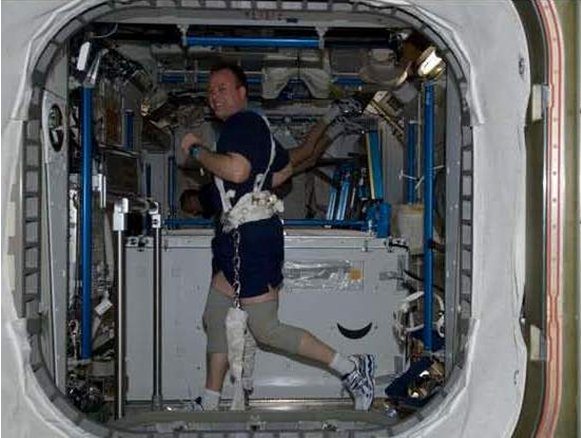 imagine an astronaut in space at the midpoint between - photo #1