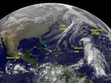 NOAA's GOES-13 satellite caught System 90E developing in the eastern Pacific