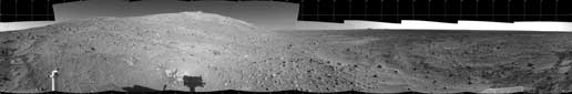 This is part of a 360-degree panorama taken by NASA's Mars Exploration Rover Spirit.