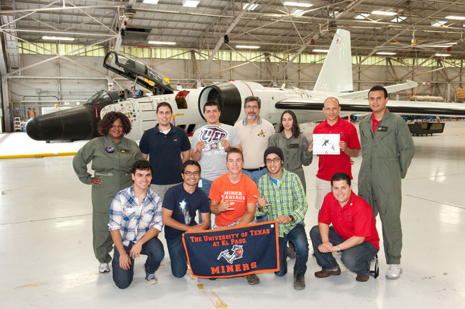 Student researchers from University of Puerto Rico, Rio Piedras and University of Texas at El Paso before boarding the aircraft where they will run the experiments they proposed, designed and constructed to test during parabolic flight patterns for the Reduced Gravity Flight Week held June 16 - 25.