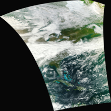 swath of data from VIIRS