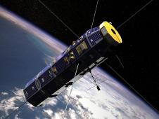 Artist  concept of CINDI in orbit around Earth.