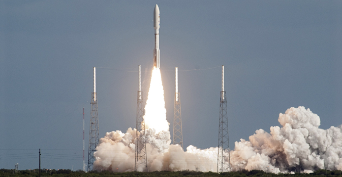 NASA's Mars Science Laboratory lifts off