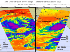 IR images of Tropical Storm 5A