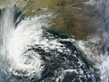 On Nov. 29, 2011 MODIS captured a visible image of Tropical Storm 5A at 12:55 a.m. EST.