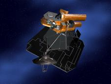Artist concept of NASA's Deep Impact spacecraft