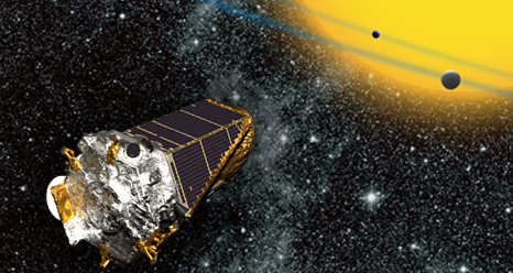 a view of Kepler in space