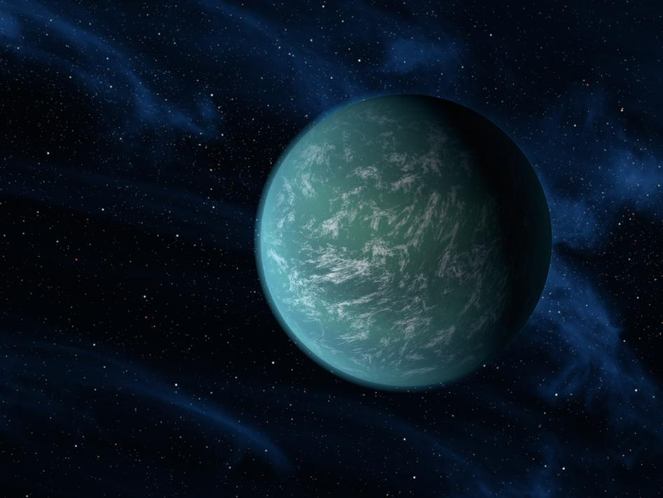 Artist Rendition of Kepler-22b