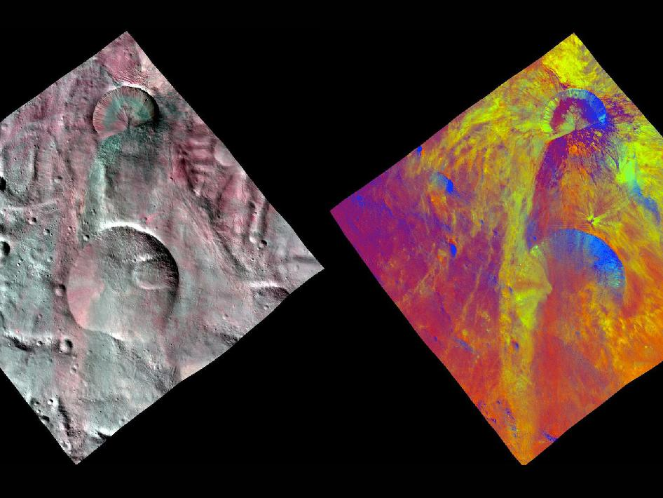 Fresh Impact Craters on Asteroid Vesta