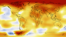 temperature map of earth