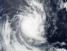 MODIS captured a visible image of Cyclone Alenga when it passed overhead on Dec. 8 at 7:10 UTC (2:10 a.m. EST).