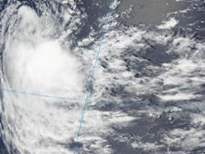 MODIS captured a visible image of Tropical Cyclone 02S on Dec. 8 at 0845 UTC (3:45 a.m. EST).