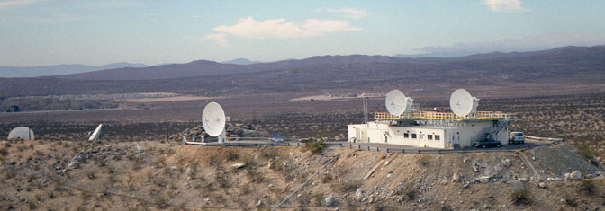 Facilities operated by NASA Drydens Western Aeronautical Test Range, including this radar complex located on a hilltop west of the center, provided telemetry, radar, voice communication and video support of shuttle missions.