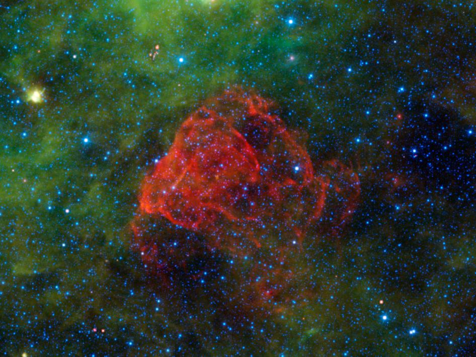 Puppis A is the remnant of a supernova explosion