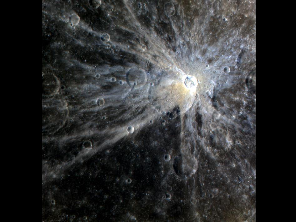Image from Orbit of Mercury: The Bright Rays of Mena