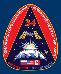 ISS034-S-001 -- Expedition 34 crew patch