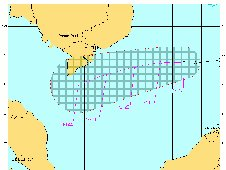 Forecast track for Tropical Depression 26W, according to the forecasters at the Joint Typhoon Warning Center.
