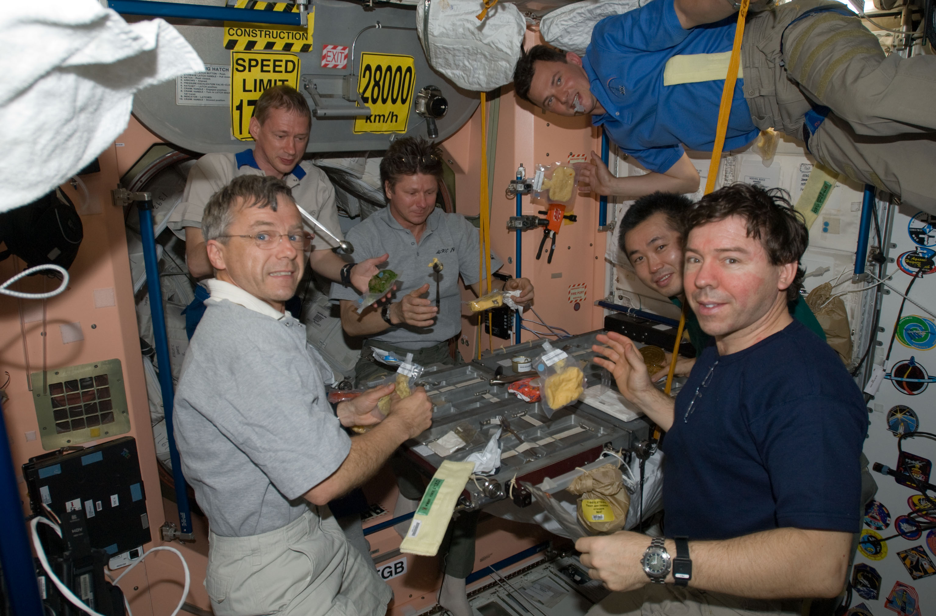 astronauts eating almonds in space - photo #8