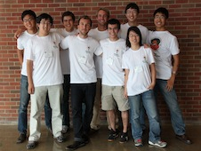 The NASA-supported iGEM team includes Julius Ho, Jovian Yu, Jesse Palmer, Andre Burnier, Ryan Kent, Evan Clark, Eli Moss, Lei Ma, Max Song.