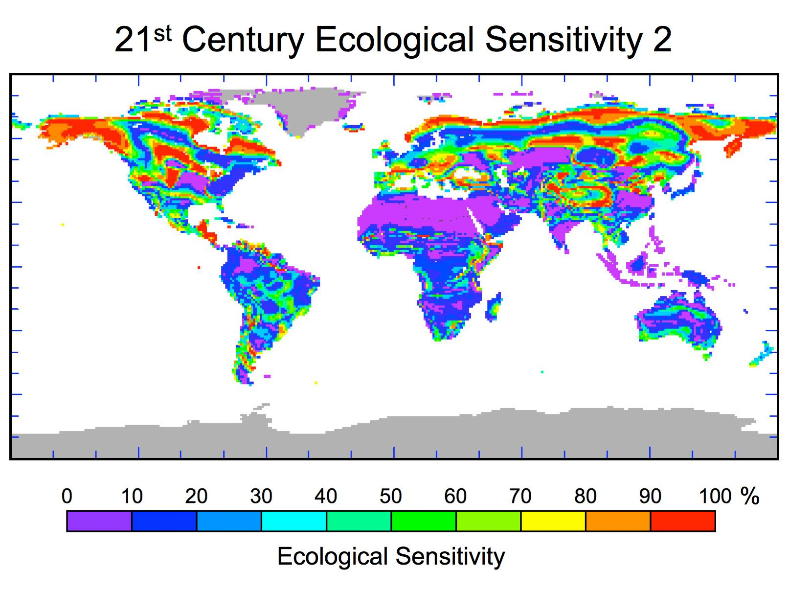 Nasa 21st century ecological sensitivity biome level changes in download image gumiabroncs Gallery