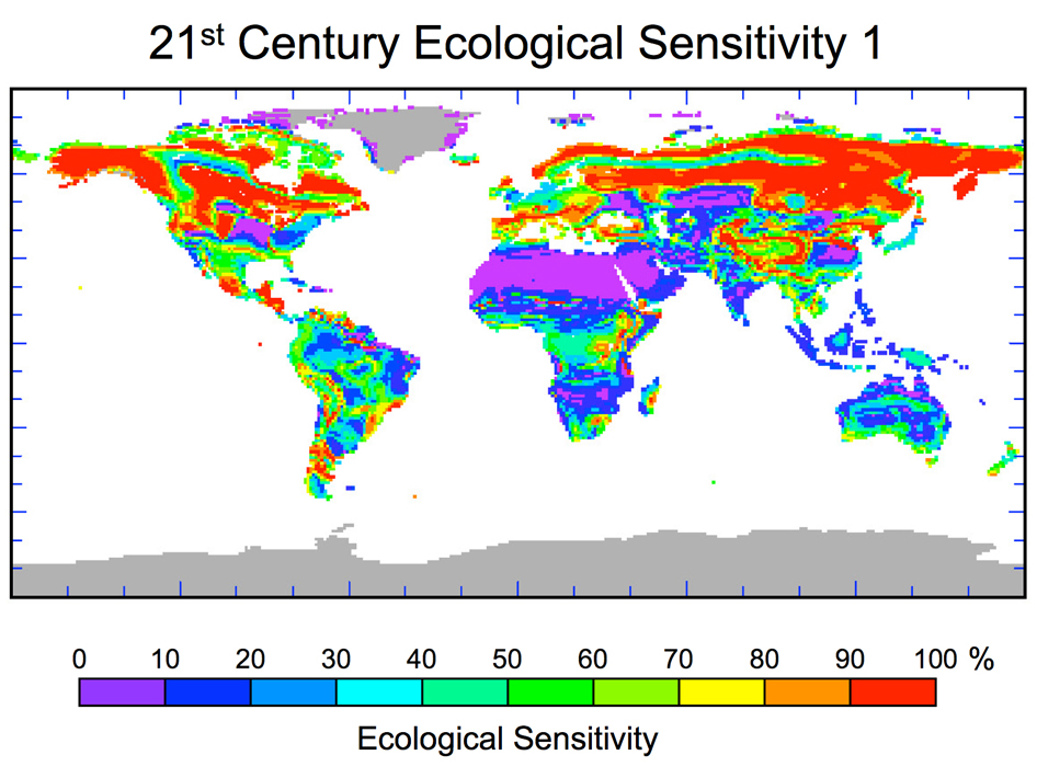 Ecological sensitivity map