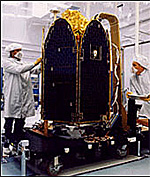 Picture of the Total Ozone Mapping Spectrometer Earth Probe spacecraft