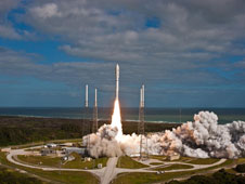 NASA's Mars Science Laboratory lifts off from Cape Canaveral Air Force Station, Florida.
