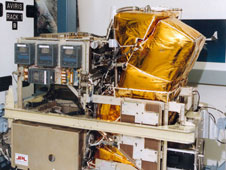 The NASA-developed Airborne Visible/Infrared Imaging Spectrometer, or AVIRIS, shown here undergoing pre-flight checkout, was carried aboard NASAs high-flying ER-2 to monitor the diurnal evapotranspiration and vegetation canopy water content changes.