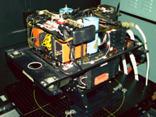 The MODIS/ASTER airborne simulator, or MASTER, instrument, shown here in a calibration lab at NASAs Jet Propulsion Laboratory, was carried on NASAs DC-8 and ER-2 aircraft to collect remote sensing data that measured evapotranspiration from almond orchards in California's San Joaquin Valley.