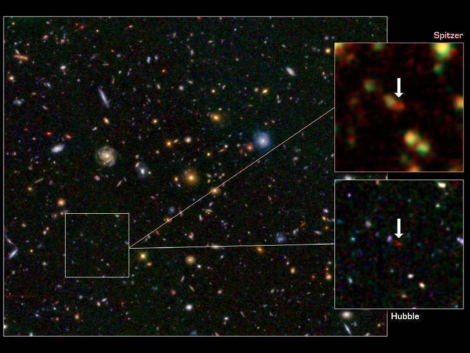 Distant galaxies known, called GN-108036