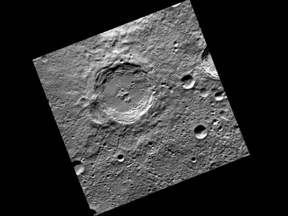 Image from Orbit of Mercury: A Christmas Crater