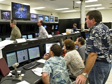 Engineers and technicians in the A2 Test Control Center at Stennis Space Center monitor activities during a J2X test.
